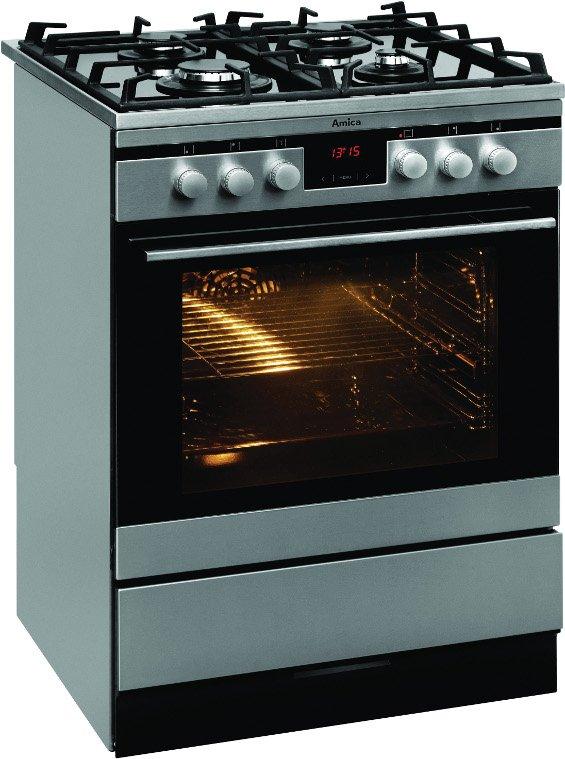 Amica 614GcE 3 43ZpTsYKDAXLEco  Kuchnia gazowa  RTVAGD   -> Kuchnia Gazowa Amica Regulacja
